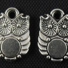 500pcs Owl jewelry bracelet metal Charm Bead  14 X 10mm