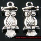 500pcs Owl jewelry bracelet metal Charm Bead  22 X 10mm