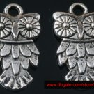 500pcs Silver Owl jewelry bracelet metal Charm Bead  20 X 11mm