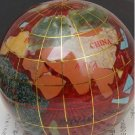 World Globe Global Map Stone Paperweight Brown