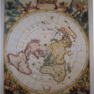 Antique Navigation World Map Cotton Canvos Map Retro Map 45 x 40cm