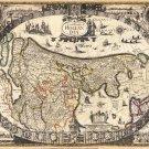 Antique Hollandia Venice World Map Cotton Canvos Map Retro Map 87 x 72cm