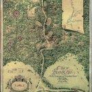 Antique World Treasure Map Cotton Canvos Map Retro Map 87 x 72cm