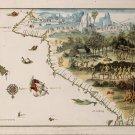 Antique World Australian Seashore Map Cotton Canvos Map Retro Map 81 x 60cm