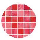 Mosaic Sticker Tile Transfer Bathroom Kitchen 50cm x 50cm Red