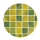 Mosaic Sticker Tile Transfer Bathroom Kitchen 50cm x 50cm Yellow Green