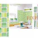 Mosaic Sticker Tile Transfer Bathroom Kitchen 50cm x 50cm Stripe Green Yellow