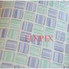 Mosaic Sticker Tile Transfer Bathroom Kitchen 50cm x 50cm Stripe Purple Blue