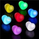 10pcs Flash Color Changing Love Heart Shape Romantic Lamp Light