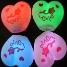 10pcs flash Color Changing Rose Love Heart Shape Romantic Lamp Light