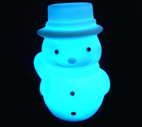 10pcs flash Color Changing Snowman Shape Romantic Lamp Light