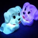 10pcs flash Color Changing Dog Shape Romantic Lamp Light