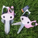 2pcs Cow Animal Shaped Kid Safety Scissors Art Craft 5''
