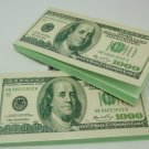 5 x 1000 Dollar Shaped Bill Patten Cover Paper Memo Pad Sticky /Desk Note
