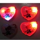 Lot of 25pcs Heart Love Rose Pin Brooch Luminous Party Favor Valentine B3