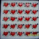 Lot of 25pcs Arrow Heart Love Pin Brooch Luminous Party Favor Valentine B2