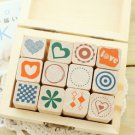 NIB Stampin' Up Rubber Stamps Set of 12 Heart Love Valentine