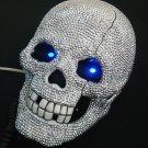 Crystal Rhinestone Skull BLING Flash Telephone Unique Flash Eye