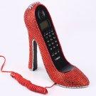 Crystal Rhinestone High Heel Shoe Telephone Unique