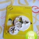 Set Butterfly Flower Cookie Cutter Mold + Stamp