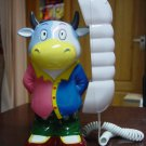 Cow Catoon Animal Novelty Corded Hanging Telephone