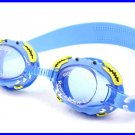 Kid Swimming Pool Crab Slicon Swim Glasses Glass Blue NIB G002