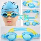Kid Swimming Pool Slicon Swim Glasses Glass Blue NIB G007