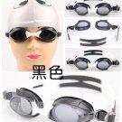 Kid Swimming Pool Slicon Swim Glasses Glass Black NIB G009