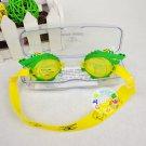 Kid Swimming Pool Crocodile Slicon Swim Glasses Glass NIB Blue G015