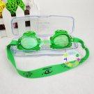Kid Swimming Pool Frog Slicon Swim Glasses Glass NIB Blue G017