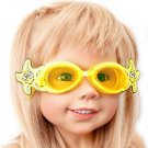Kid Swimming Pool Seastar  Slicon Swim Glasses Glass Yellow NIB G028