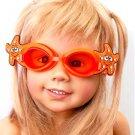 Kid Swimming Pool Seastar  Slicon Swim Glasses Glass Orange NIB G028