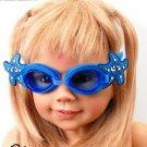 Kid Swimming Pool Seastar  Slicon Swim Glasses Glass Dark Blue NIB G028