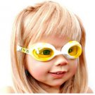 Kid Swimming Pool Seastar  Slicon Swim Glasses Glass Yellow NIB G030