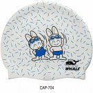 Kid Swimming Pool Rabbit Swim Sliccon Fabric Cap / Bathing Cap Pink S007