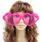 Crazy Big Specs Heart Glasses Clown Classes Costume Theatre Prop Fuschia