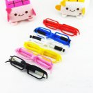 Lot of 10pcs Glasses Ball Point Pen Dollhouse miniature Toy Promotion Gift BP001