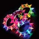 Lot of 8pcs Luminous bracelet spike bangle Party Favor LB002