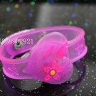 Adjustable Lot of 12pcs Love Heart Valentine Luminous bracelet bangle Party Favor LB004