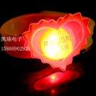 Adjustable Lot of 12pcs Love Heart Valentine Luminous bracelet bangle Party Favor LB016