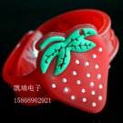 Adjustable Lot of 12pcs strawberry Luminous bracelet bangle Party Favor LB010