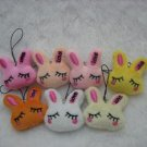 30pcs Plush Rabbit Mobile Strap for cell phone wholesale promotion party favor MB007