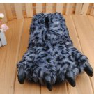 Adult Plush Monster Tiger lepord Foot Paw Animal Claw Slipper party SH004