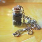 Halloween Black cat evil eye Glass vial necklace Pendant bottle necklace NW568