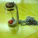 I love Paris Eiffel Tower heart Glass vial necklace Pendant bottle necklace NW543