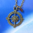 compass charm necklace pendant nautical ocean NW577