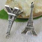 Lot of 100pcs mini Tower 47 x 22mm toy/jewelry bracelet metal alloy Charm CM875