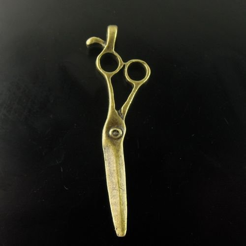 Lot of 200pcs mini Brass Tailor Scissors dollhouse miniature toy/jewelry Charm CM816