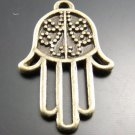 300XDollhouse hand palm  /jewelry Pendant metal alloy charm 24X15mm CM979