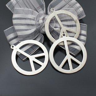 Lot of 100pcs Flower Peace dollhouse miniature toy/jewelry bracelet  metal alloy Charm CM772